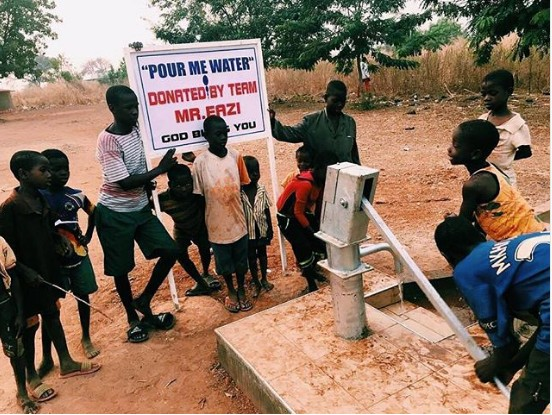 """Mr Eazi Builds Borehole For A Village To Promote """"Pour Me  Water"""" His New Song"""