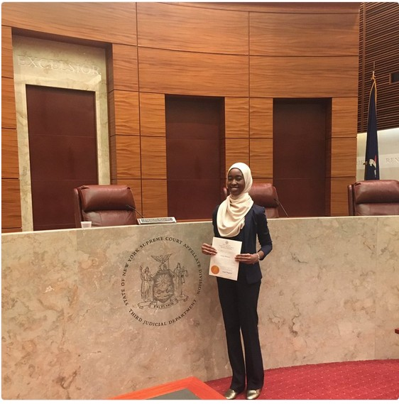 See Photo Of Daughter Of NBA President Being Admitted To New York Bar In Hijab