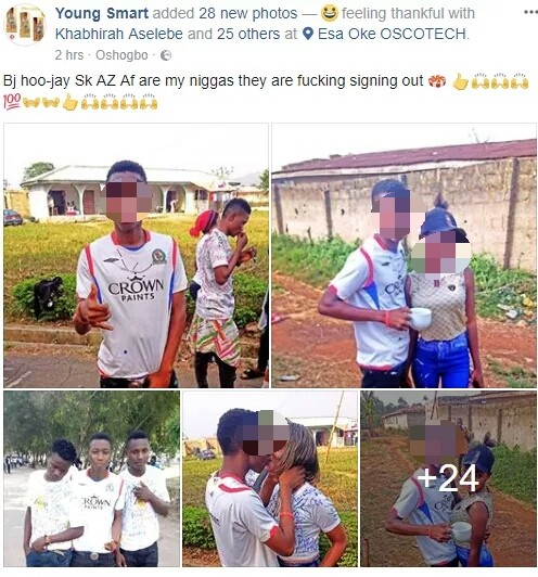 Guys Grab Slay Mama's Chest As They Celebrate Graduation From Osun College Of Education (Pics)
