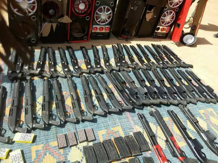 Photos Of Pump Action Rifles Destined For Nigeria Hidden In Sound Systems