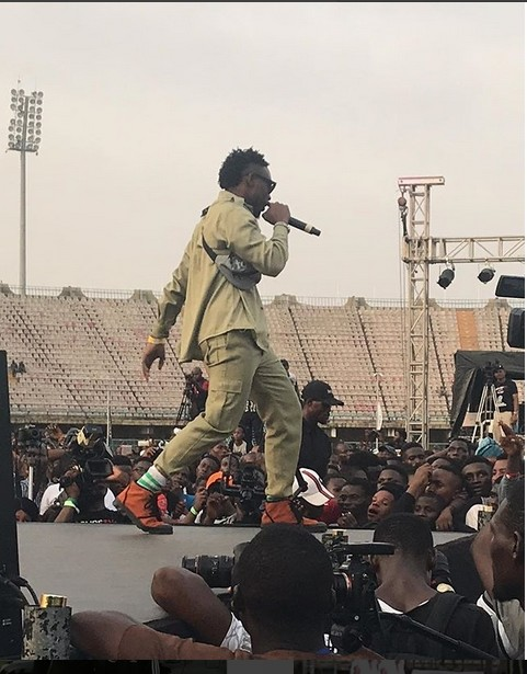 LAX Performs In His NYSC Uniform At OLIC4