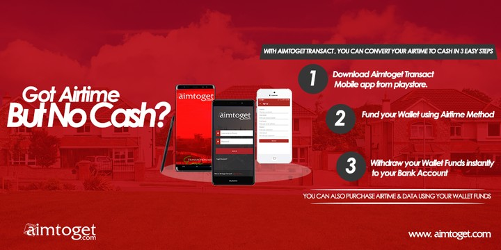 Mobile App That Converts Airtime To Cash With Ease -aimtoget