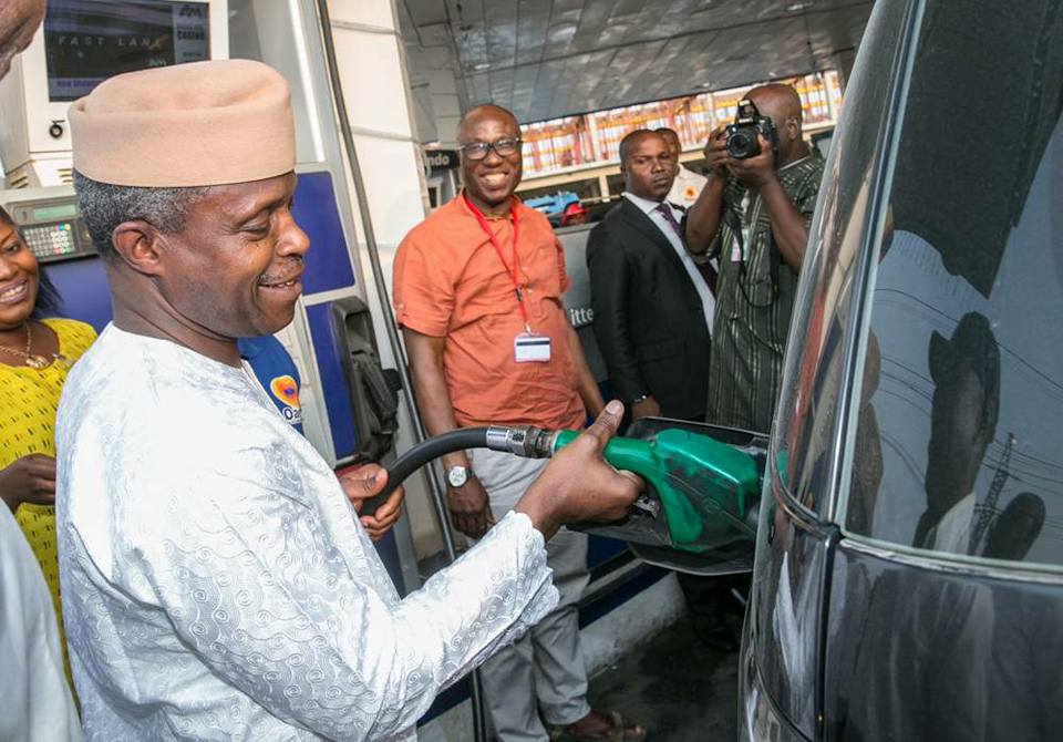 Fuel scarcity will be resolved in days, says Osinbajo