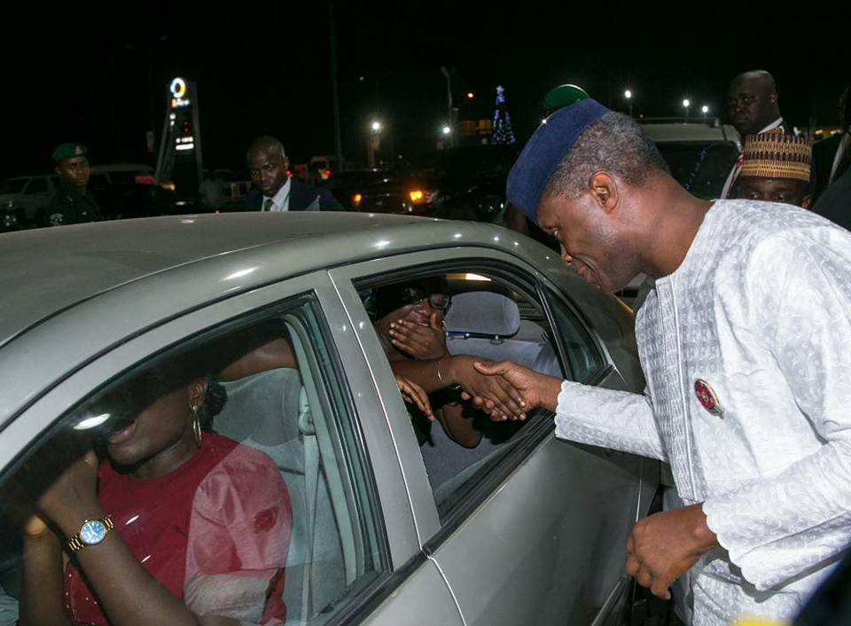 In surprise visit to filling stations, Osinbajo says: We feel your pains