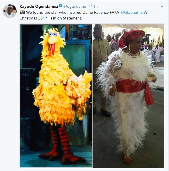 "Image result for Patience Jonathan's ""Feather"" Christmas Outfit That Has Got People Talking"
