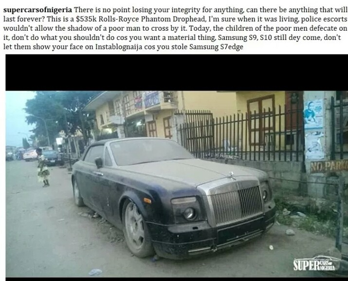 N193m Rolls-Royce Phantom Abandoned In Lagos; Rots Away (Pictured)