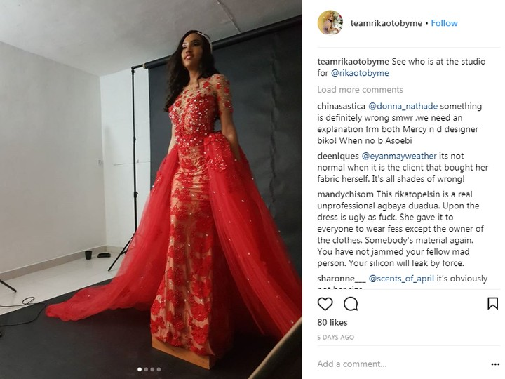 6497571 qew jpeg29a128dd1f5fb26f7ac1e3dfdf1e240e - A Model Wore That Controversial Wedding Dress Before Mercy Aigbe (Photos)