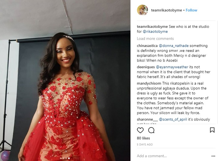 6497572 uy jpeg83e930f28ed0593df382a4da0f6c066d - A Model Wore That Controversial Wedding Dress Before Mercy Aigbe (Photos)