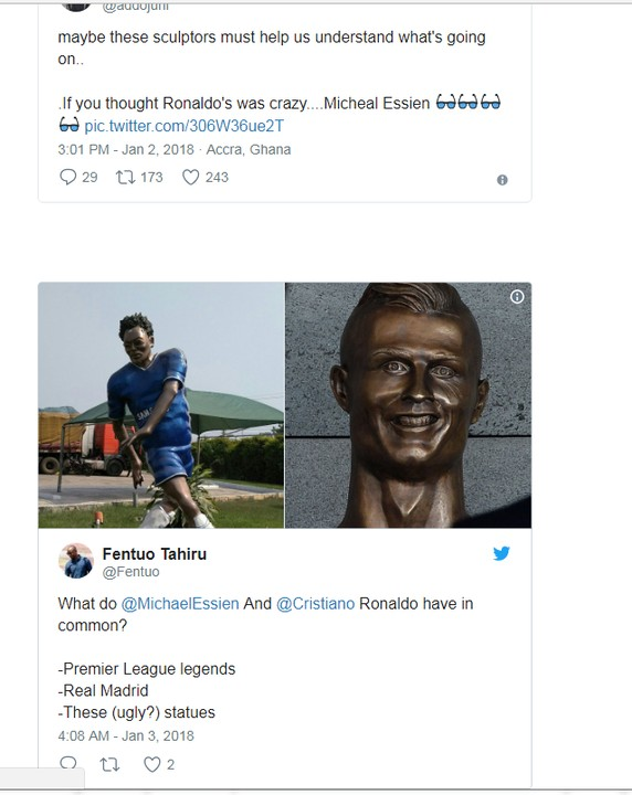 6503714_screenshot2_jpeg1190646d7dad52a810e9b533aff0f04e Chelsea Legend Michael Essien Honoured With Bizarre Statue In Ghana (Photos)