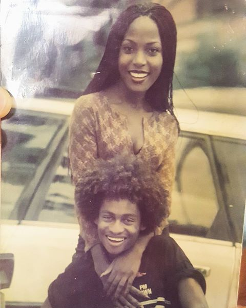 Image result for denrele and linda ikeji's throwback photo