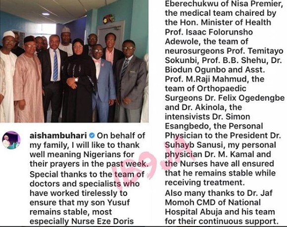6511995_screenshot1_jpeg0e2f556455f0df226841c8ce51bea38f Bike Crash: Aisha Buhari Thanks, Nigerians, Medical Team Working On Her Son, Yusuf