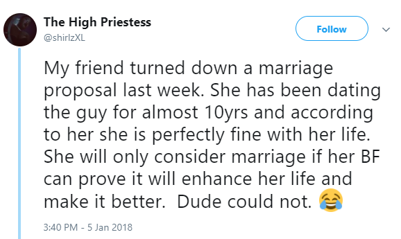 Lady Rejects Marriage Proposal From Her Boyfriend Of 10 Years..see Her Reason