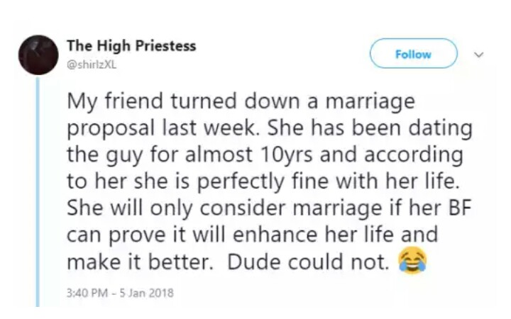 Lady Rejects Marriage Proposal From Her Boyfriend Of 10 Years