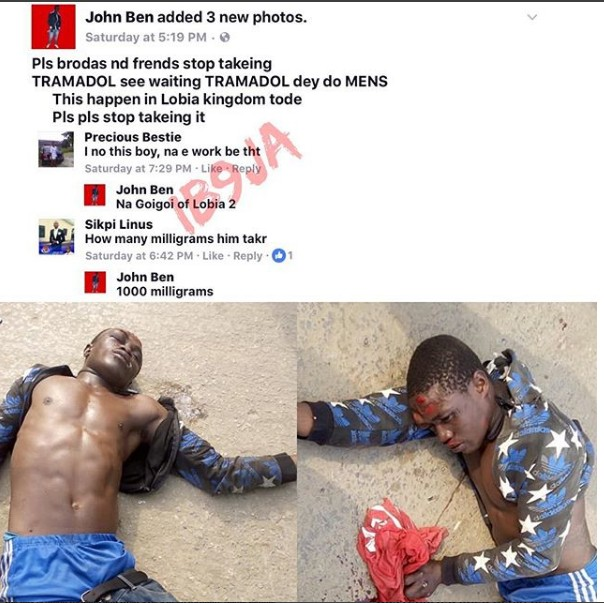 6538845 screenshot3 jpeg96647f10afbbedde0709206e8c8ff91a - Man Suffers Convulsion After Taking 1000mg Of Tramadol In Bayelsa State (Photos)