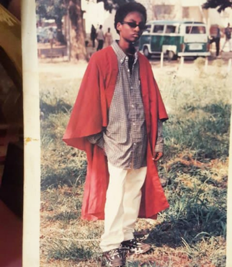 Denrele Edun At His Matriculation In UNILAG In 1998: Throwback Photos