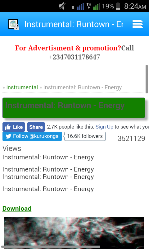 Over 3 5 Million Download On Runtwon Energy Instrumental