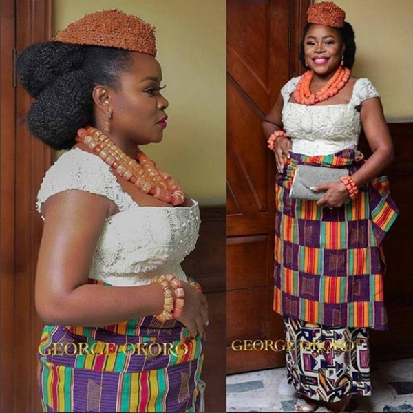 Omawumi steps out for her traditional marriage in Warri