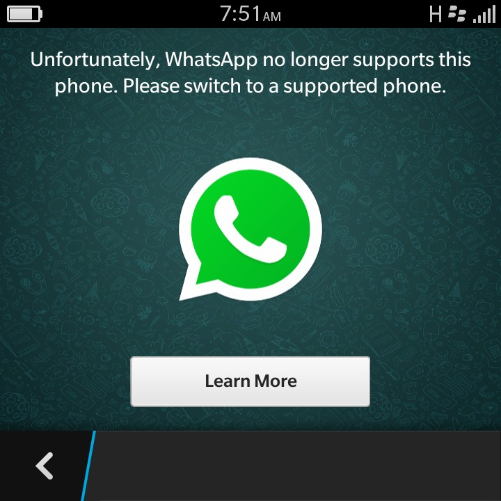 Whatsapp Just Stopped Working On My Blackberry Z10  Anyway