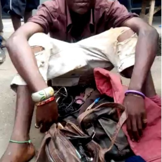 Man Who Pretends To Be Mad, Caught With Charms, POS And Live Tortoise In Lagos