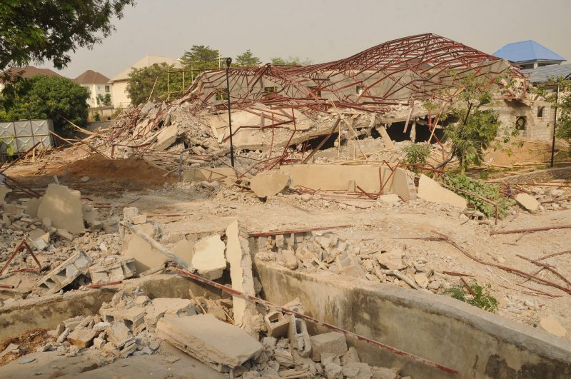 BREAKING – FCTA Demolishes Patience Jonathan's House In Abuja (Photo)