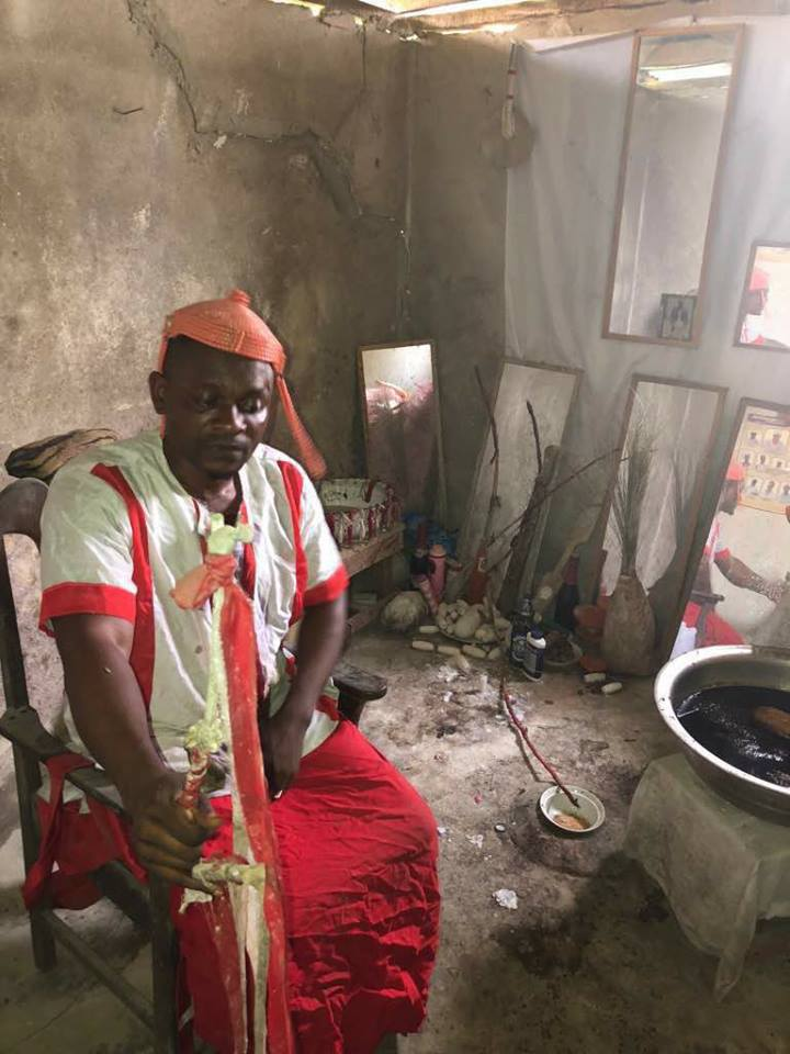 Pastor Stormed A Shrine In Delta State, Then This Happened Afterwards (Photos)