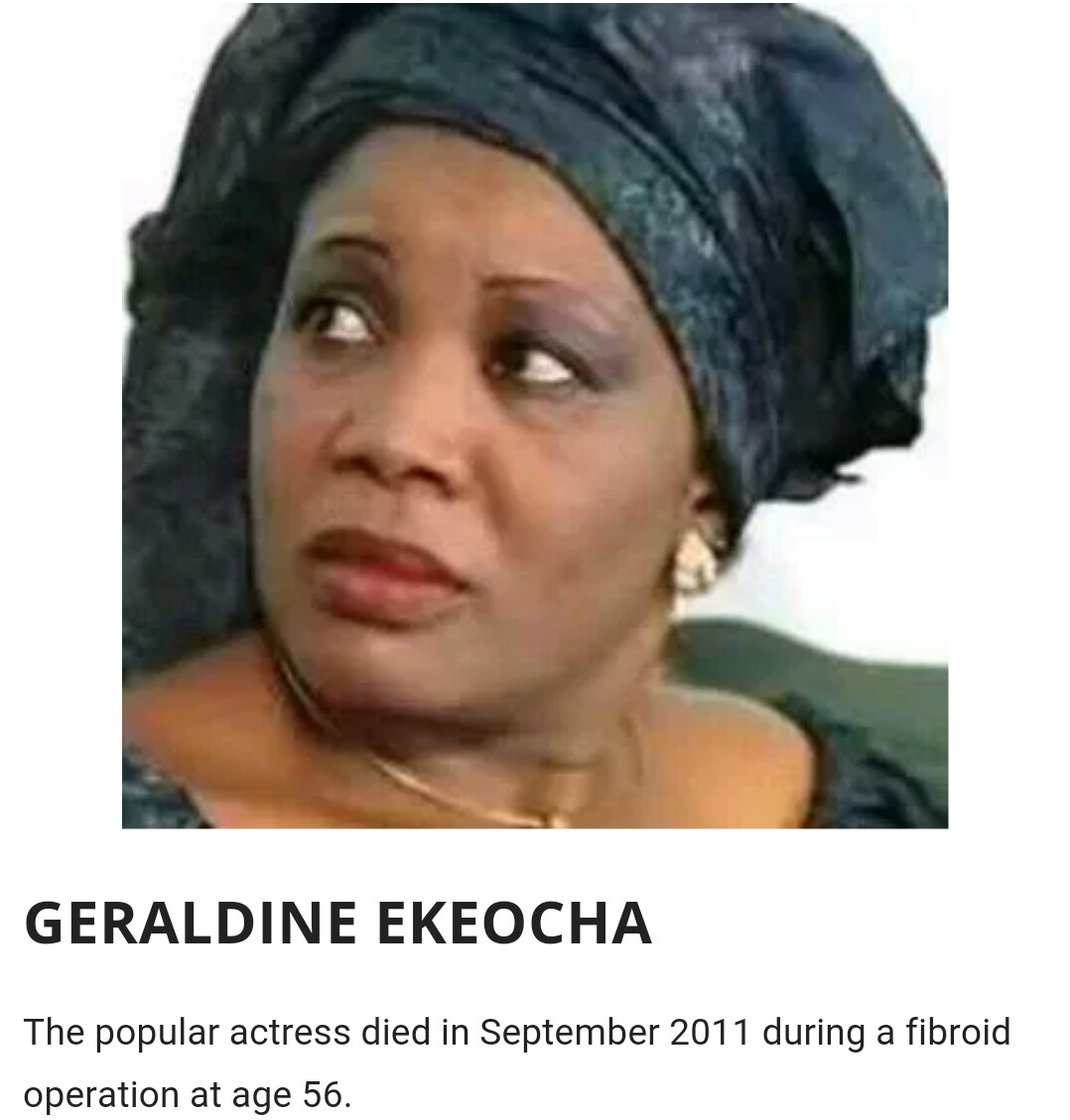 Pictures of geraldine ekeocha