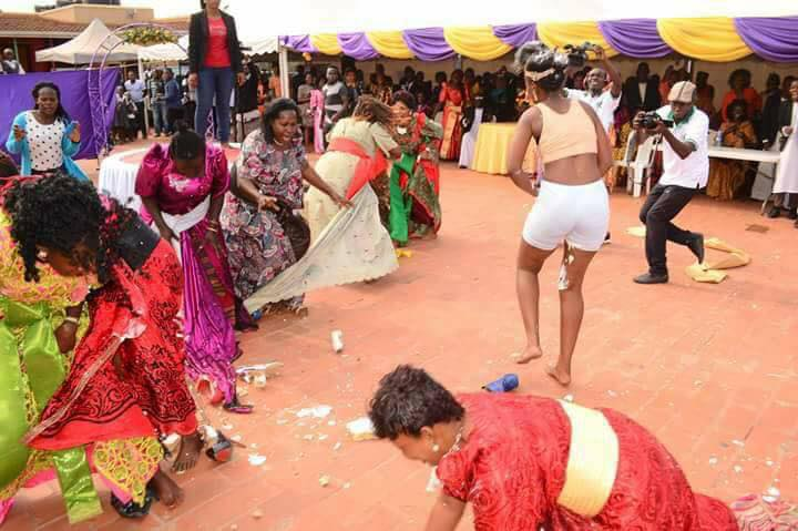 Image result for Commotion as Bride Run Mad and Undressed Herself On Her Wedding Day in uganda