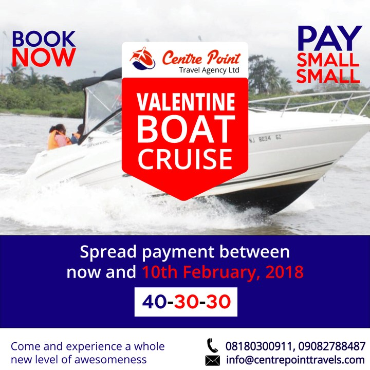 Valentine Boat Cruise Special/perfect Weekend Getaway