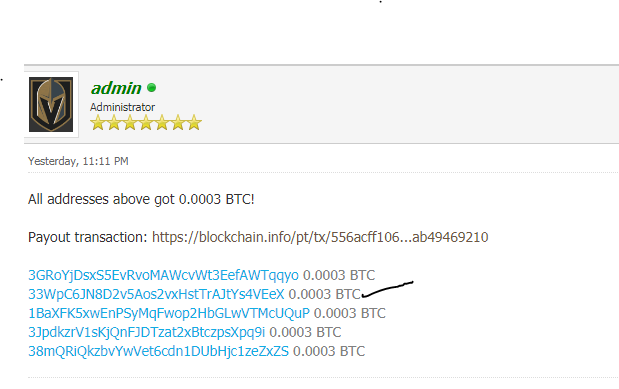 Get Free $3 Worth Of BTC For Signup To A Forum Like Nairaland