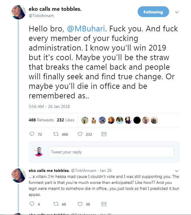 6611725 screenshot8 png38b58c59f649c965381f9495f12f5e03 - President Buhari Female Supporter Blasts Him And Member Of His Administration (Pics)