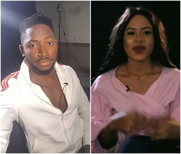 Image result for #BBNaija: Miracle And Nina Kiss & Romance In The Shower (Photos)