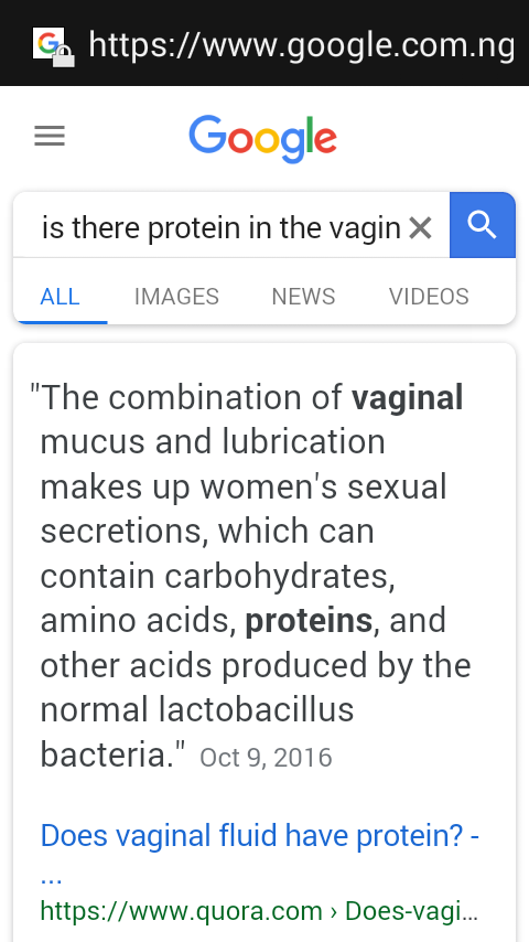 Does vagina contain protein