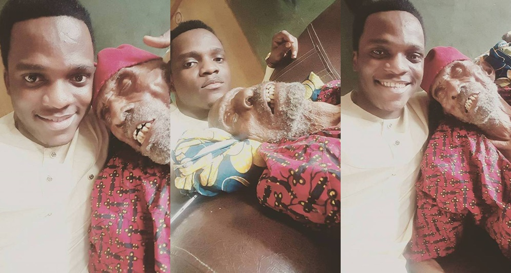 6627682 kaka8 jpegec97cf619ce993f441aba178cc55da0b - Nigerian Pastor Poses With His 145-year-old Grandpa (Photos)