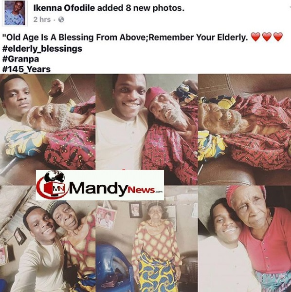 6627696 screenshot3 jpeg96647f10afbbedde0709206e8c8ff91a - Nigerian Pastor Poses With His 145-year-old Grandpa (Photos)