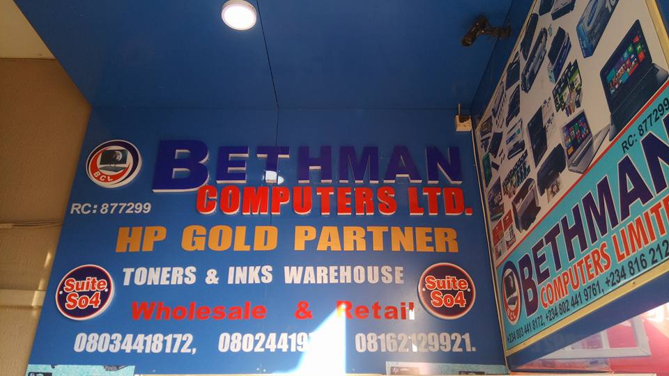 Bethman Computers: Number 1 HP Partners In Abuja - Computers