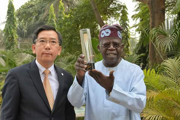 Bola Tinubu Receives Winter Olympic Touch 2018 From Korea Consul (Photos)