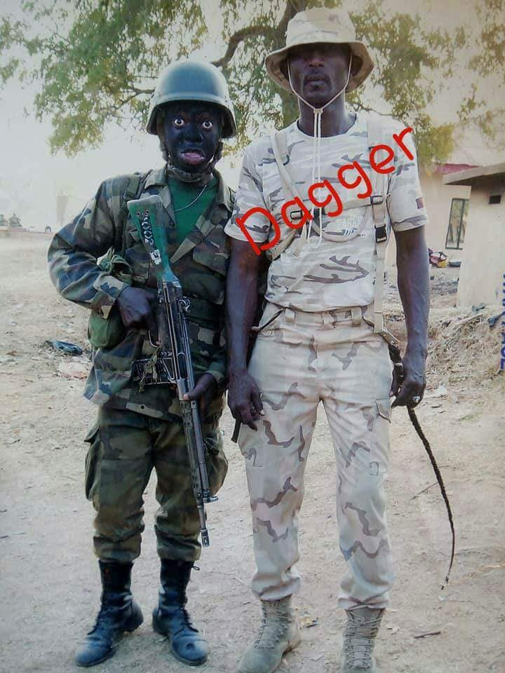 Photo Of Nigerian Soldier, 'Major Dagger' Drilling Students