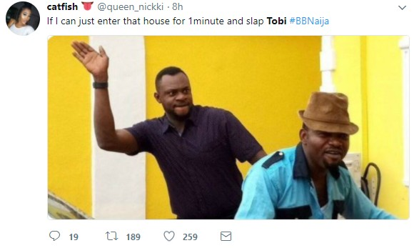 #BBNaija: Yorubas Disown Tobi For Begging Cee-C Who Got Angry Over Lap Dance