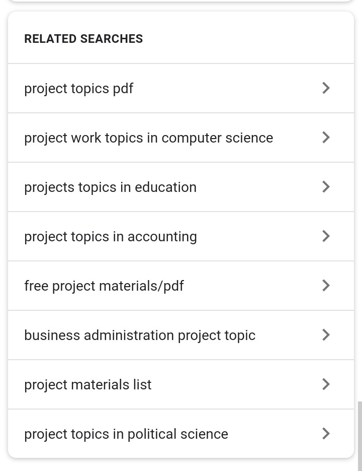 Research Project Topics  Free Project Topics  Download Final Year