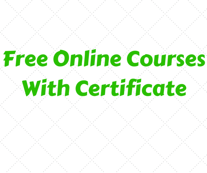 Checkout 25 Free Online Courses With Certificates Of