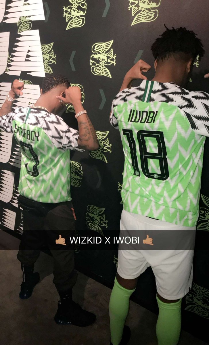 Wizkid And Iwobi Model For New Super Eagles' Jersey (Pictures)