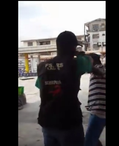 Man Punches SARS Officer After Being Hit During Fight In Lagos. Photos/Video