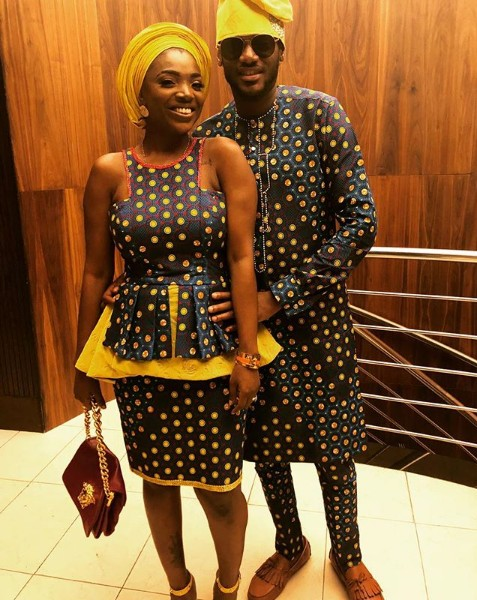 2face And Annie Idibia Look Absolutely Stunning In Matching Ankara