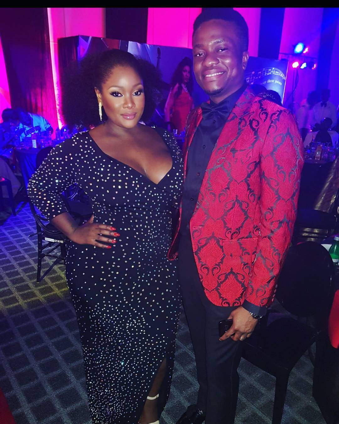 Visibly Pregnant Toolz & Her Husband Step Out For Omosexy's Birthday, Fans React