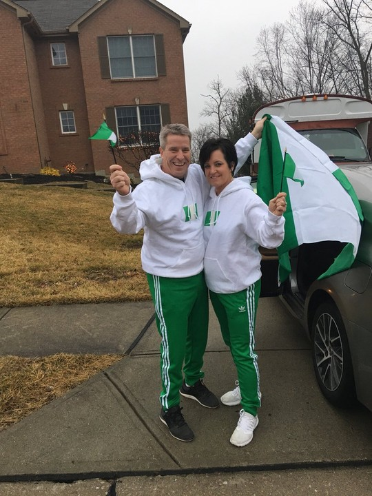 White Couple Rock Nigerian Flag & Colours To Olympic Themed Party (PHOTOS)