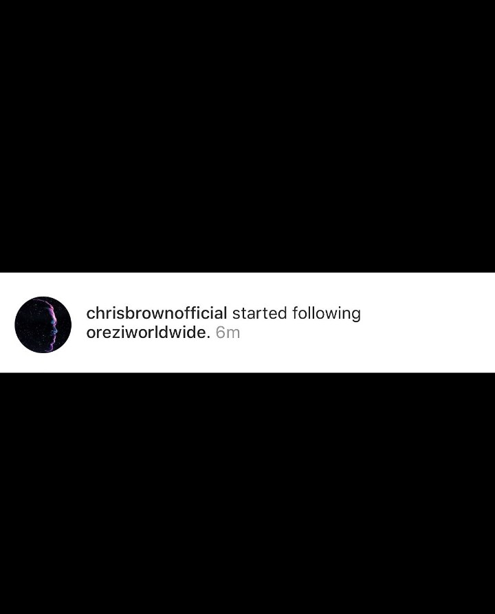 {filename}-Chris Brown Follows Orezi On Instagram