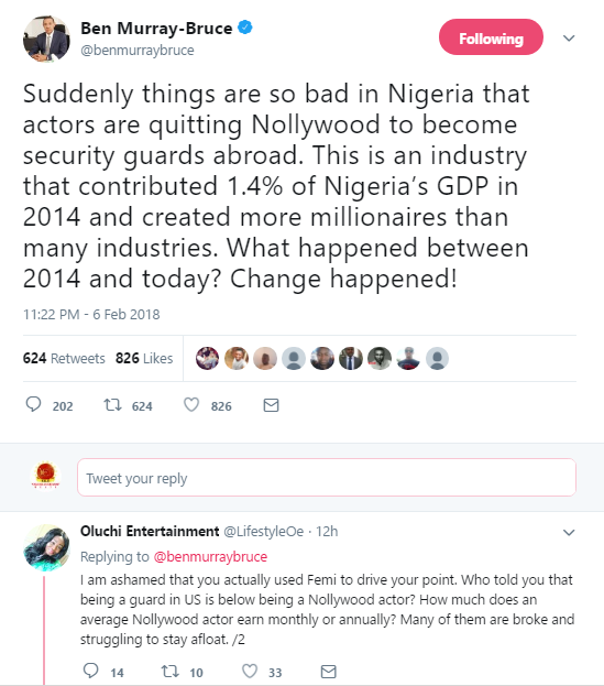 Ben Murray Bruce Has Opened A Fresh Wound As He Talks About Nollywood Actors Quitting To Pursue Security Guard Career Abroad
