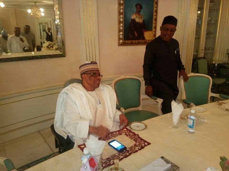 PDP National Chairman And NWC Visit Former Head Of State, IBB, In Minna Today (Pics)