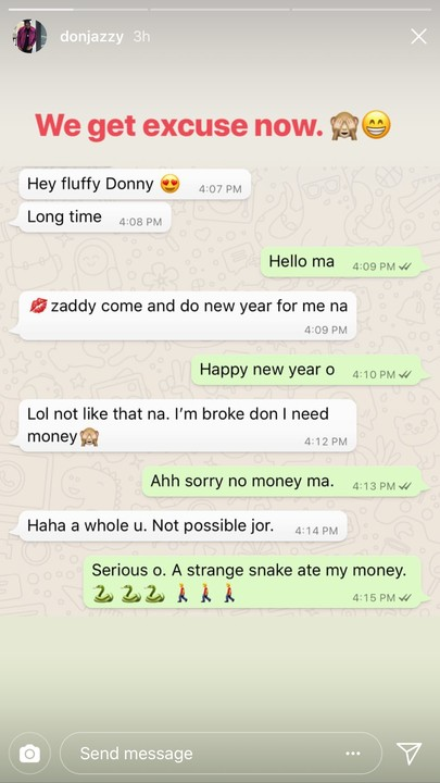 'Snake Swallowed By Money' – Don Jazzy To A Lady Who Begged Him For Money