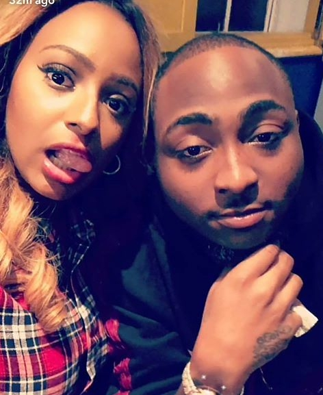 Cute Photo Of DJ Cuppy And Davido At His 30BillionConcert In London